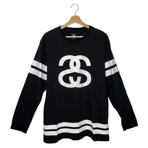 Stussy Logo 90s Long Sleeve Double Striped Shirt